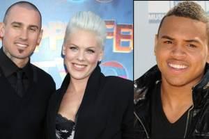 Chris Brown Lip Synchs: Pink, Carey Hart, & Chrissy Teigen Mock Singer For Billboard Awards Performance  2