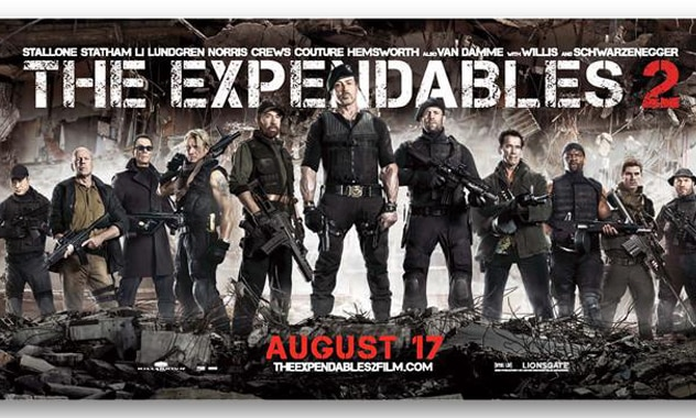"""THE EXPENDABLES 2 / """"Loaded"""" film Clip"""
