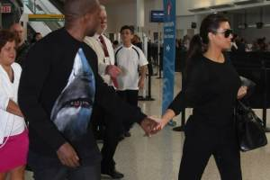 Kim Kardashian & Kanye West Hassled At JFK By Skipping Security Check