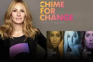 "Julia Roberts And Other Celebrities Join ""Chime For Change"" 1"
