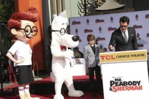 Special Paw-Print ceremony honored Canines as Top Dog from  MR. PEABODY & SHERMAN
