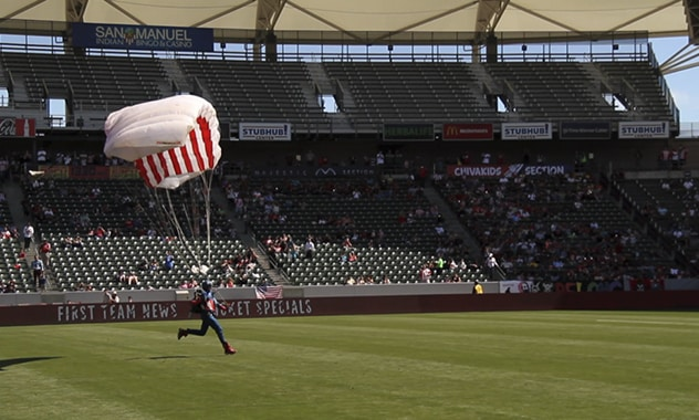 The Chivas USA and Marvel's Captain America: The Winter Soldier Joined ForcesFor a Spectacular Half-time Surprise!