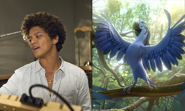 Bruno Mars gives Anne Hathaway a warm welcome in this clip from RIO 2!