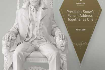 "President Snow Address Panem With ""Together as One"" Speech 9"