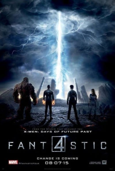 fantastic 4 2015 one sheet poster