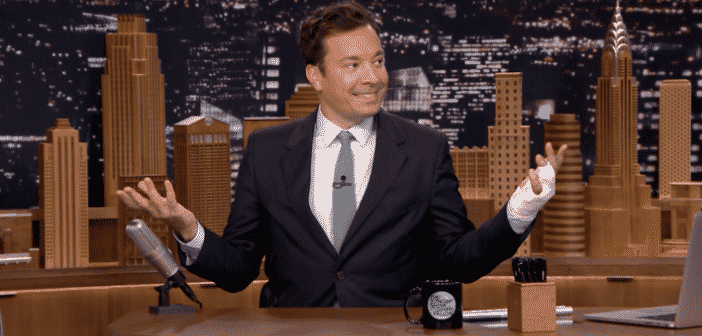 "Jimmy Fallon Reveals The Story About His Finger Injury ""Almost Lost My Finger"""