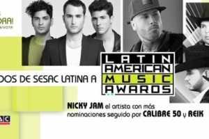 SESAC Latina Earns A Total Of Twelve Nominations At The Upcoming  Latin American Music Awards