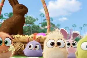 The Hatchlings from  The Angry Birds Movie wish you an  Egg-cellent Easter!