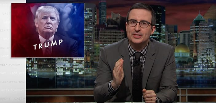 John Oliver Scheduled Specially Made TV Ads To Help Teach Donald Trump with His Presidency