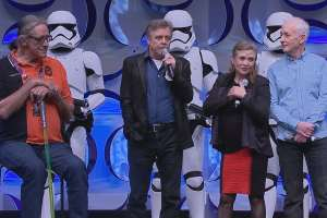 Force Awakens Mark Hamill and Carrie Fisher