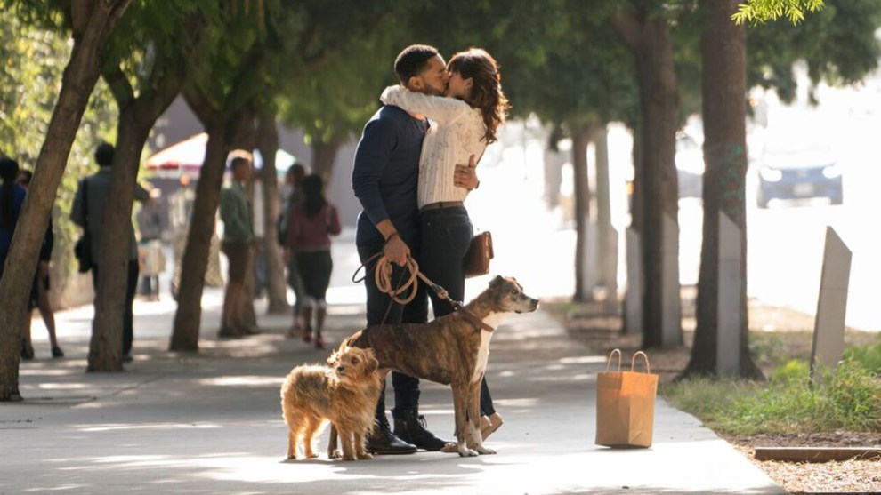 Tone Bell and Nina Dobrev in Ken Marino's DOG DAYS