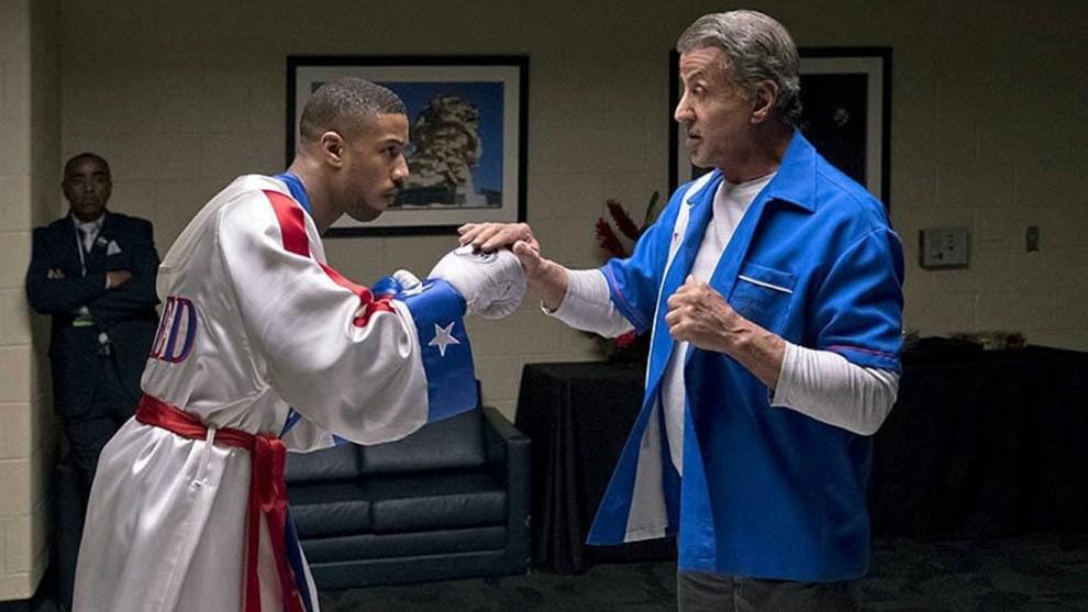 Sylvester Stallone and Michael B. Jordan in Creed II (2018)