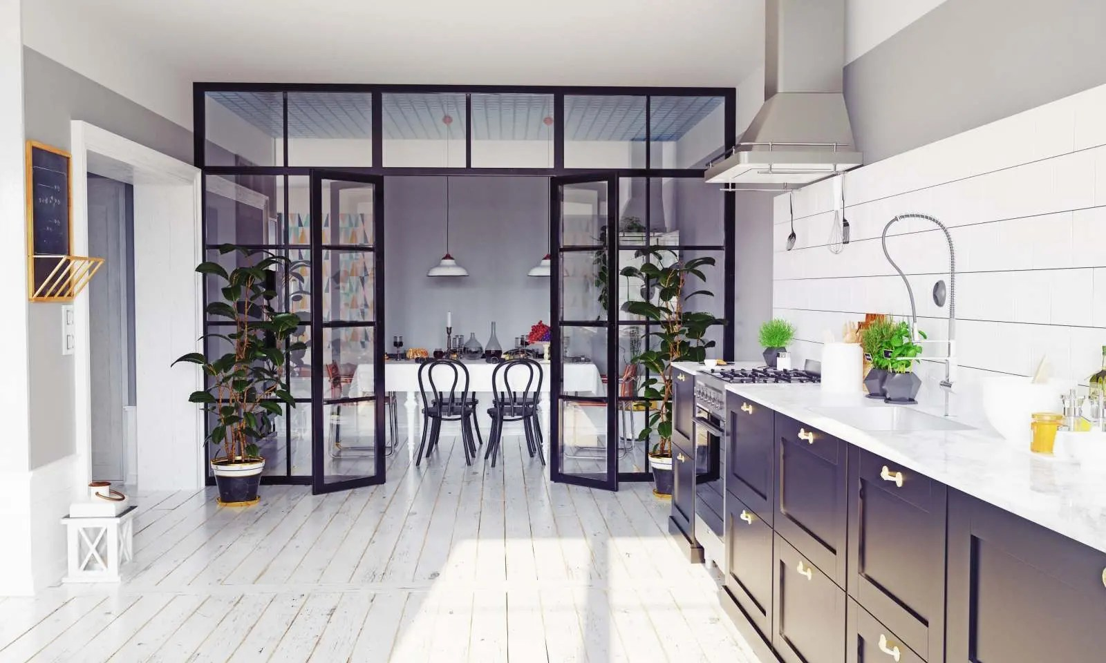 Credete che l'angolo cottura open sia l. Come Dividere Soggiorno E Cucina Con Le Pareti Vetrate Zaza Design