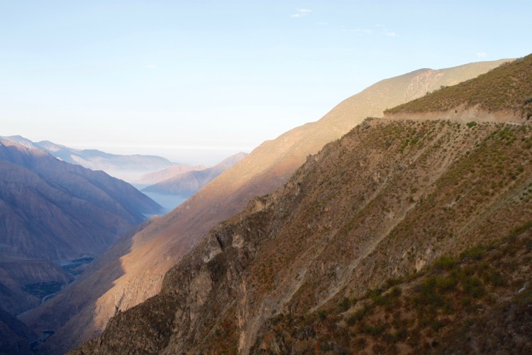 Panoramic view of the Andean highlands in the Chillon river basin where Huamantanga is located
