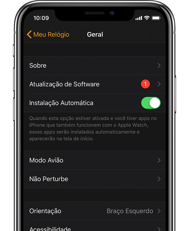 Atualizando o Apple Watch