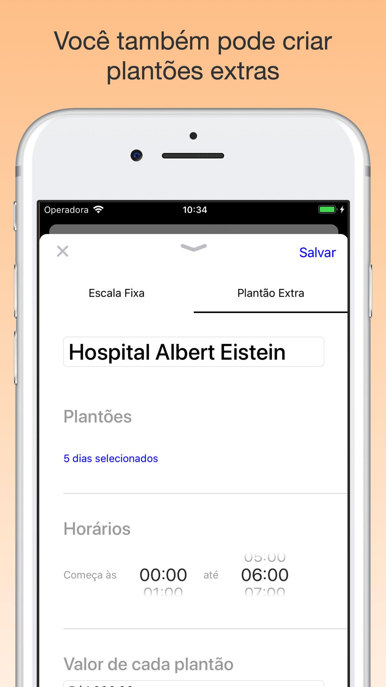 Screenshot do app Plantão Escala - Agenda Fácil