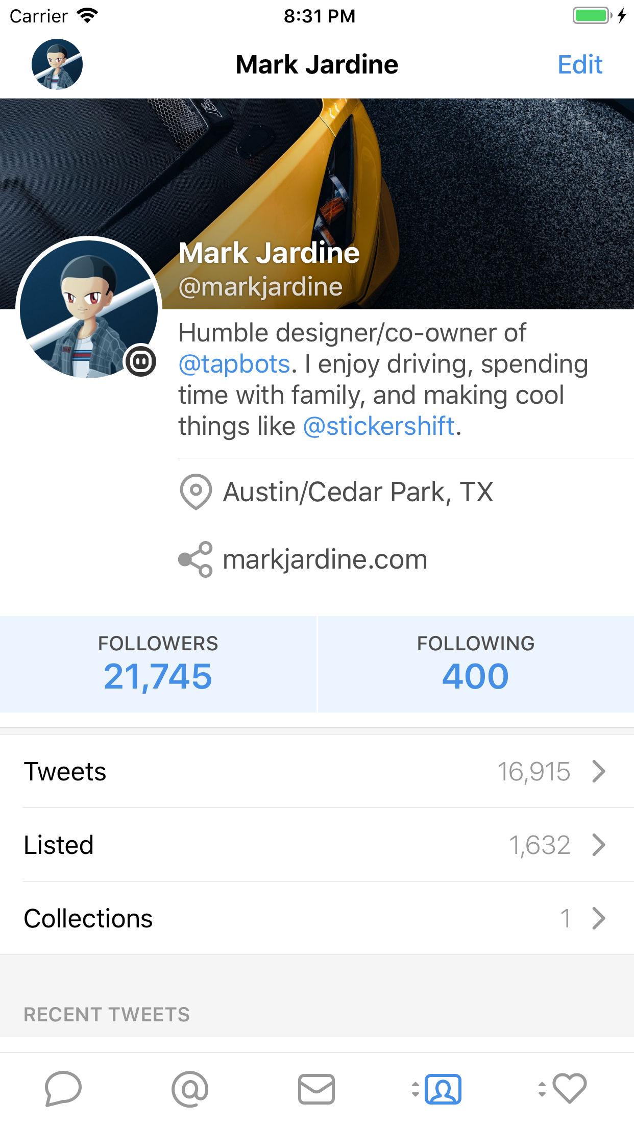 Screenshot do app Tweetbot 5 for Twitter