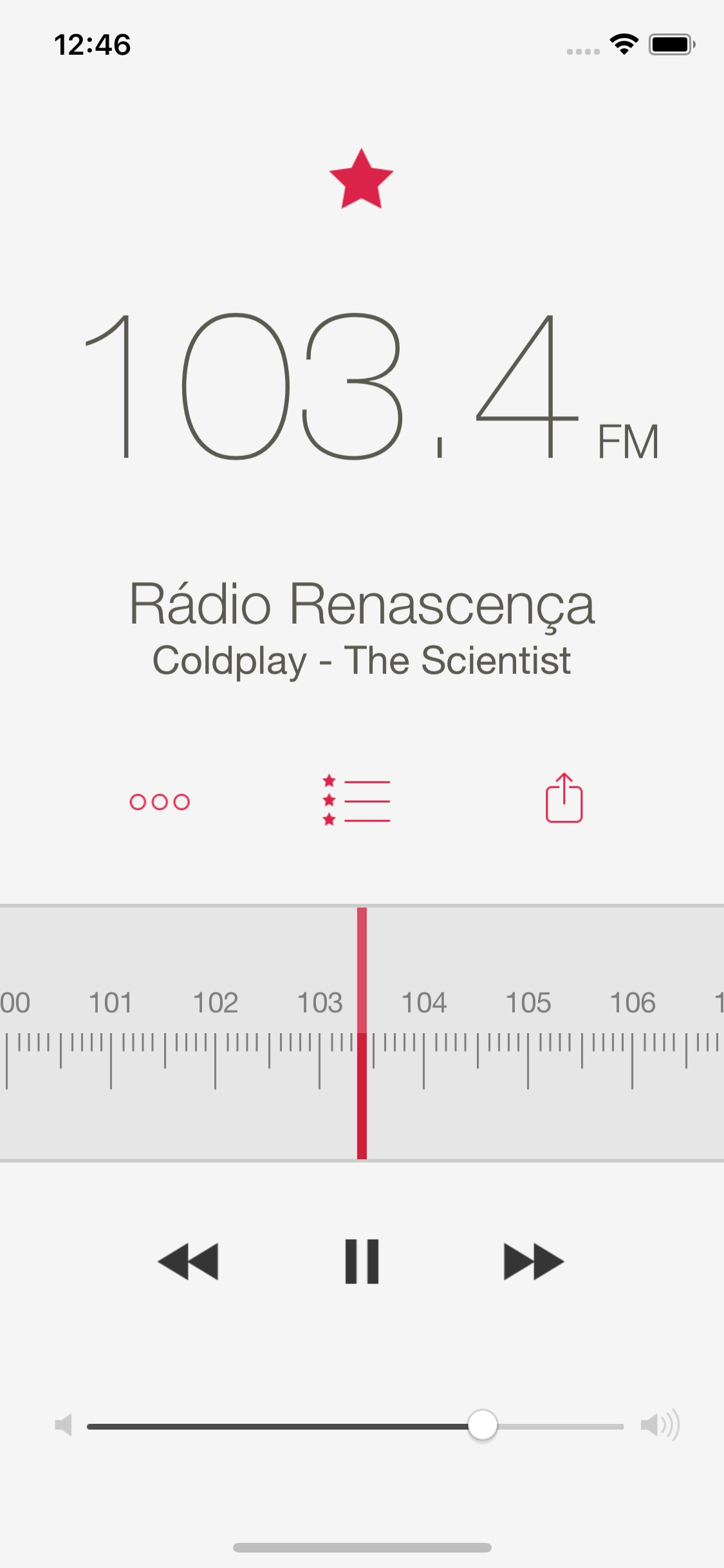 Screenshot do app RadioApp Pro