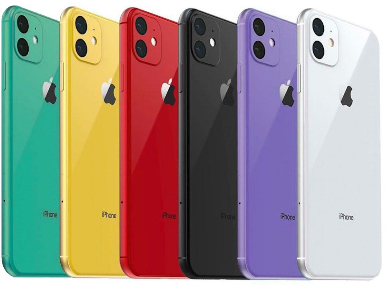 Render das possíveis novas cores do iPhone XR