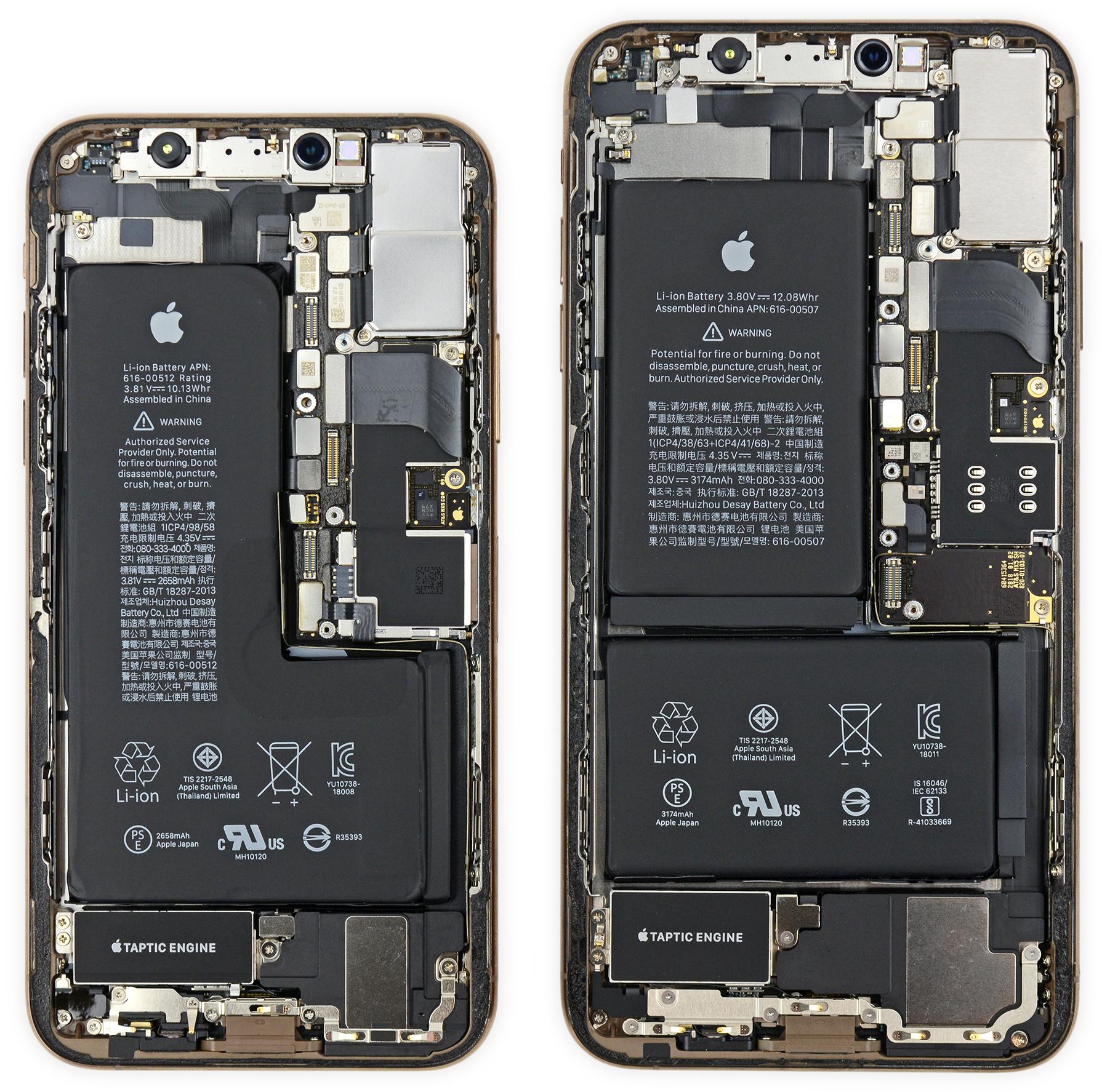 Desmonte da iFixit dos novos iPhones XS e XS Max