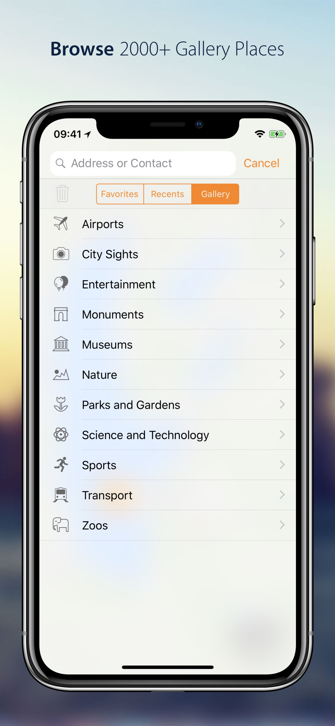 Screenshot do app Streets App