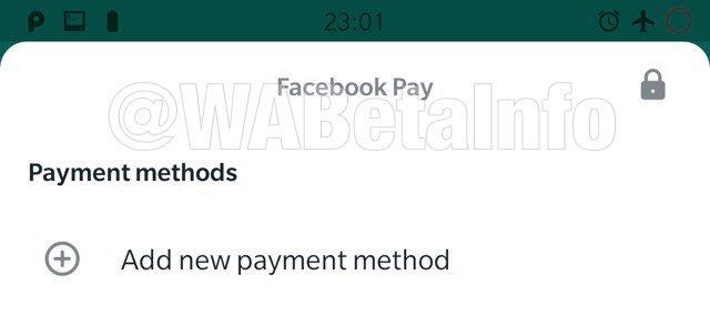 Facebook Pay no WhatsApp