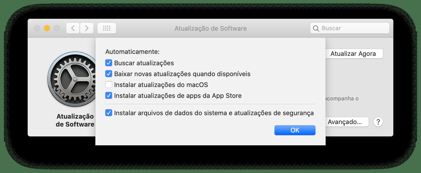 Atualização de apps da Mac App Store