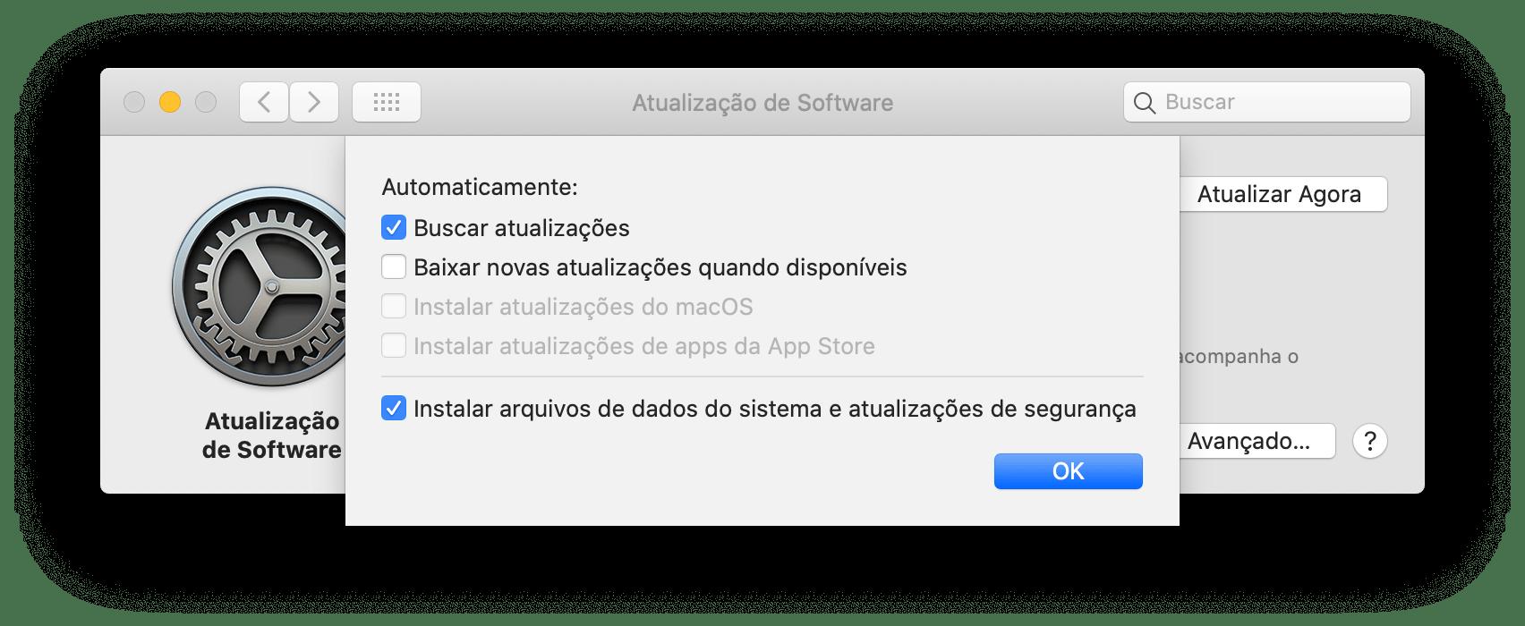 Atualizações de segurança do macOS