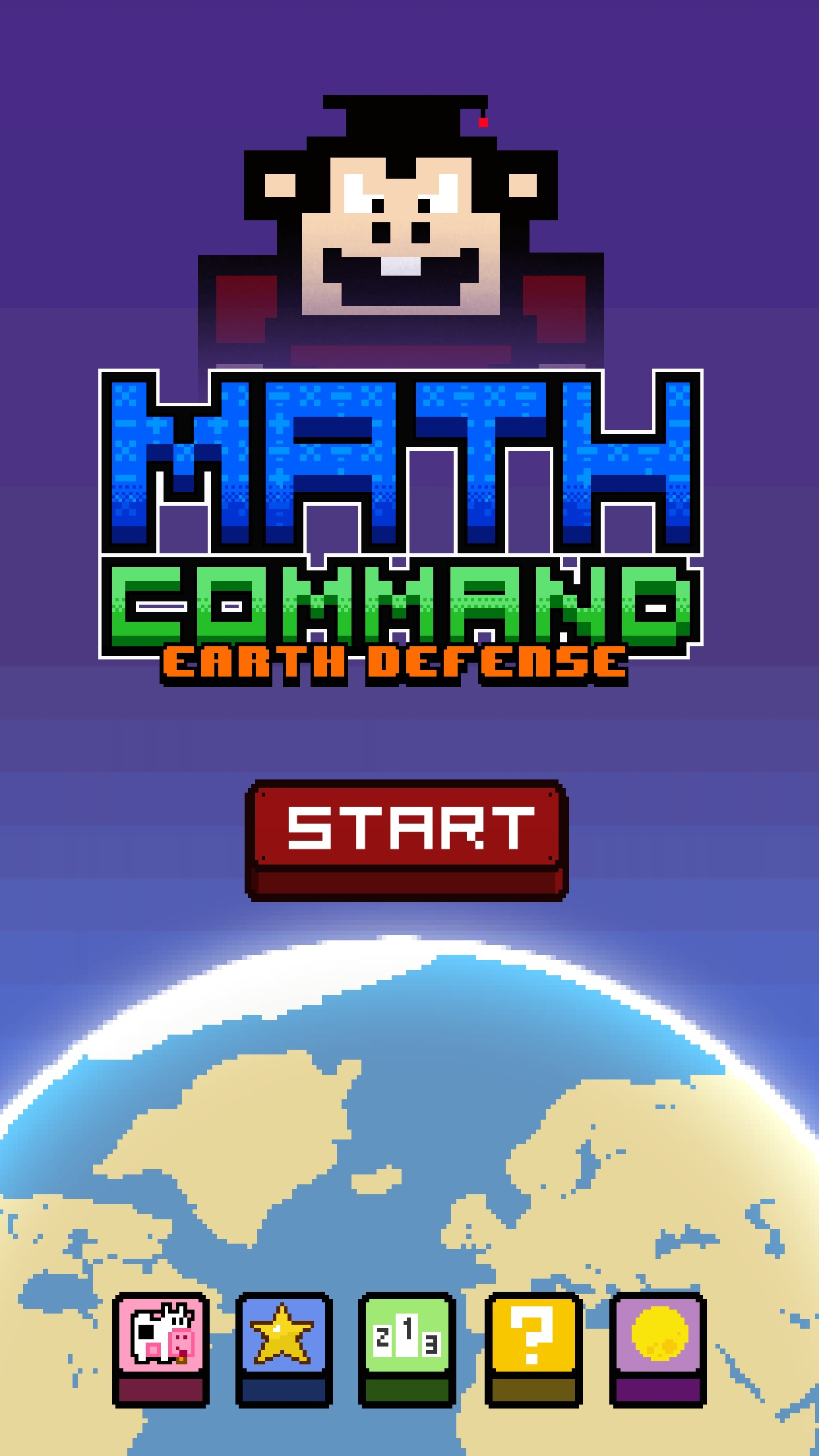 Screenshot do app Math Command: Earth Defense