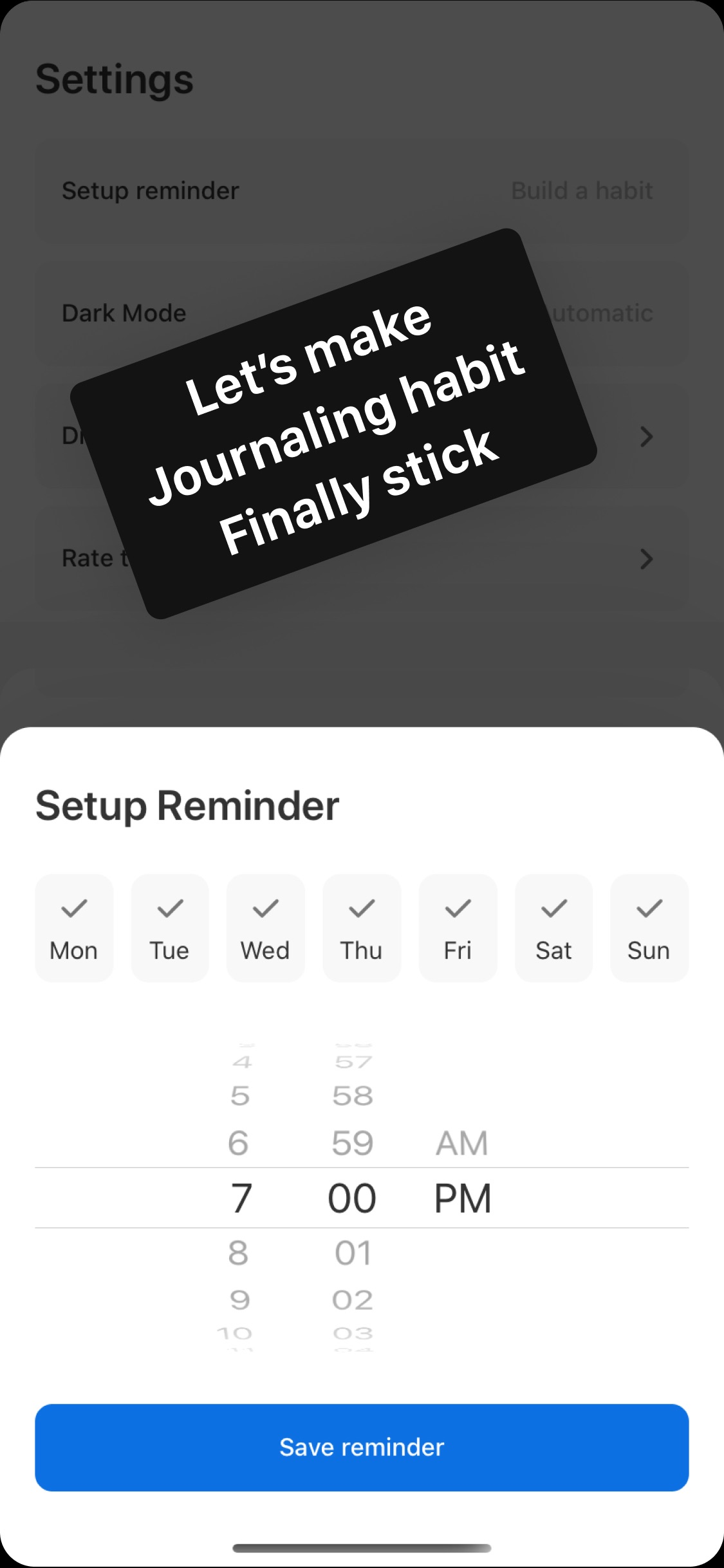 Screenshot do app HighNotes