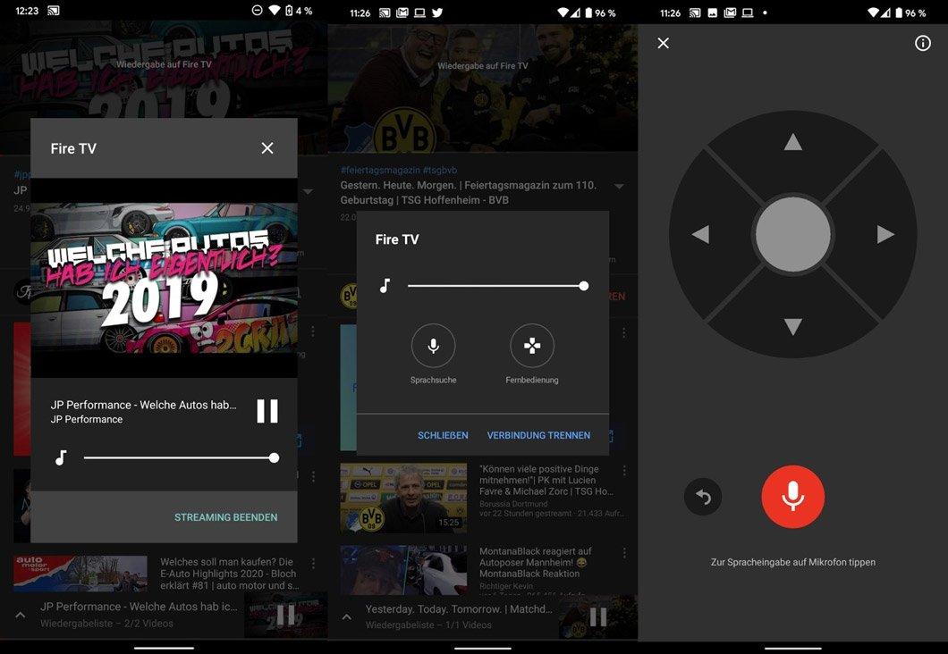Controle remoto no app do YouTube para iOS