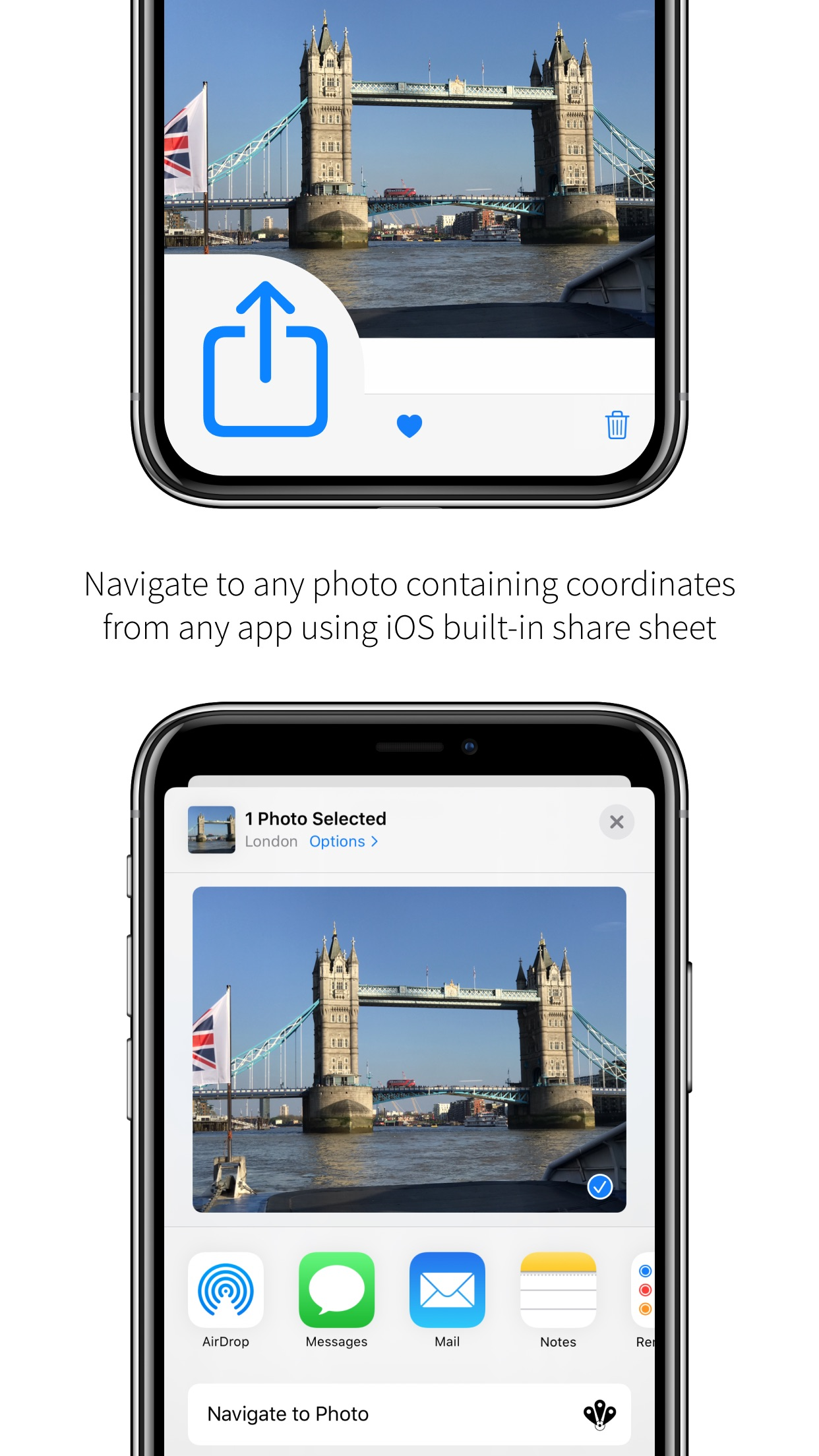 Screenshot do app Navigate to Photo
