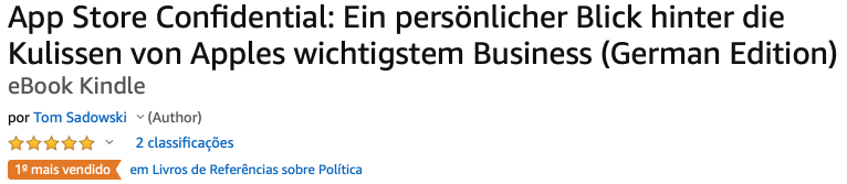 """App Store Confidential"" entre os mais vendidos na Amazon"