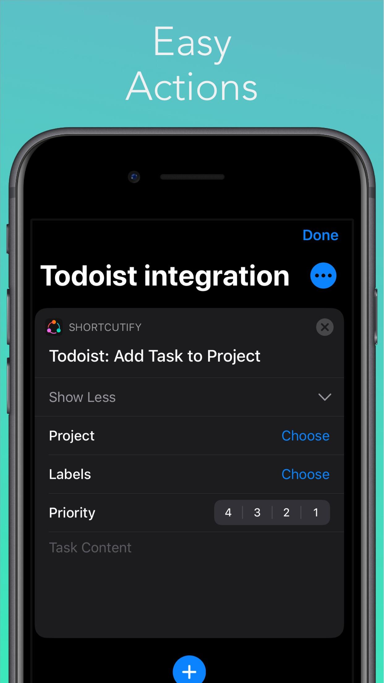 Screenshot do app Shortcutify