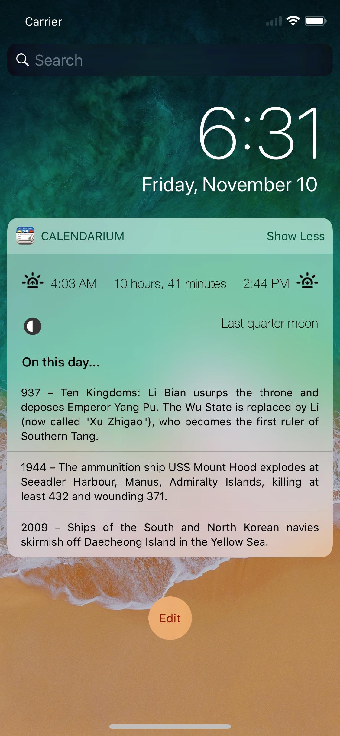 Screenshot do app Calendarium - About this Day