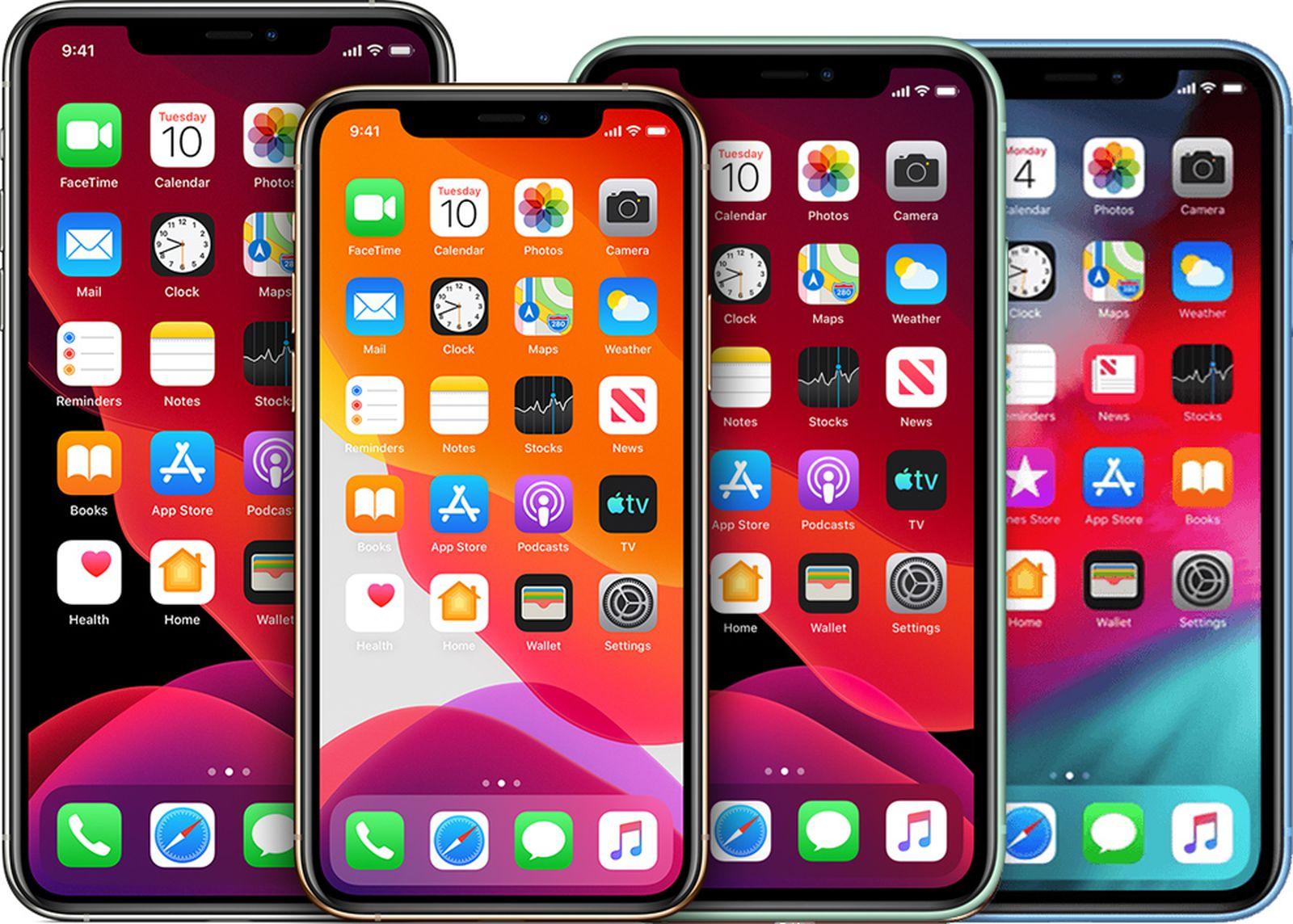 """Quatro iPhones (um de 5,4"""", dois de 6,1"""" e um de 6,7"""")"""