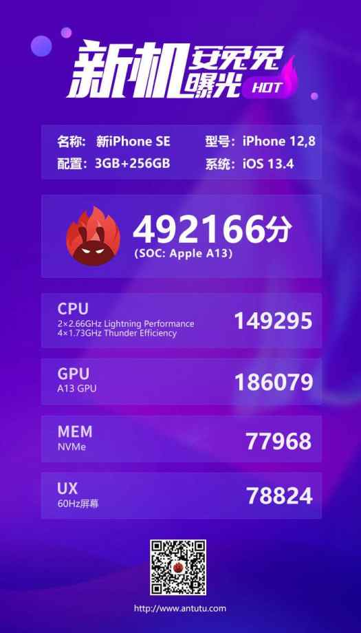 Benchmarks do novo iPhone SE