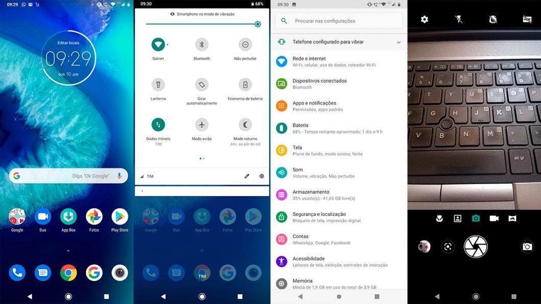 screenshot do Android no Moto G8 Power Lite