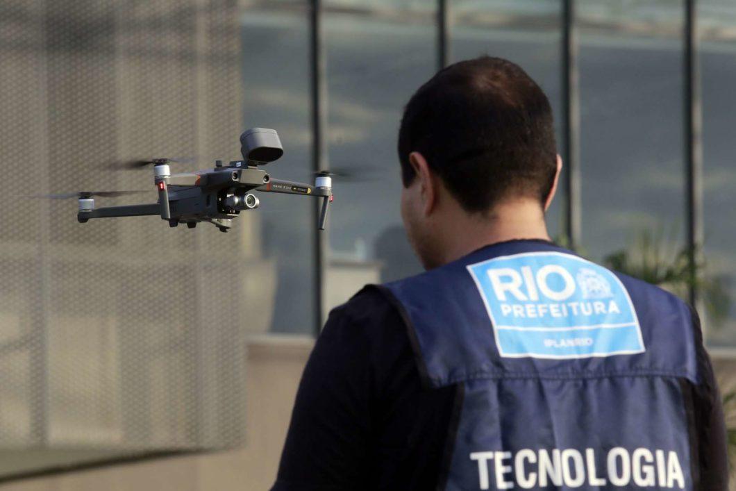 prefeitura rio de janeiro drone mavic 2 enterprise com falante