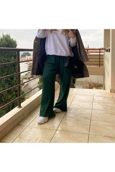 Zazuela παντελόνα ριπ πλεκτή