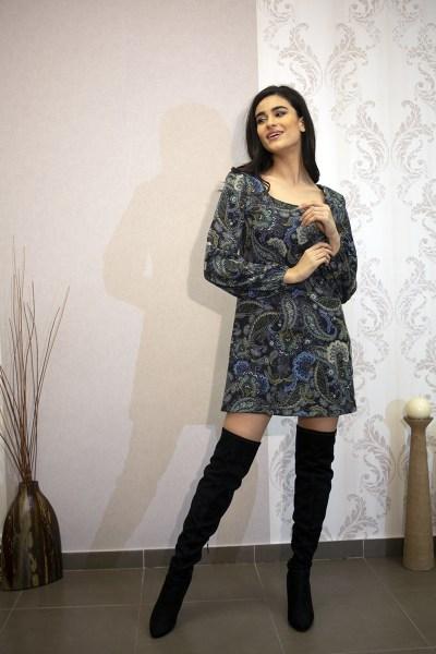 Φόρεμα πλεκτό μίνι λαχούρι