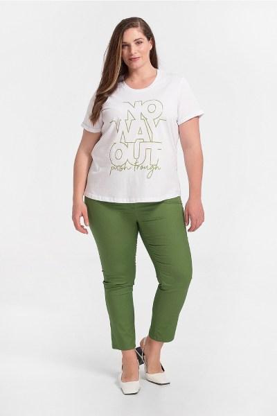 Παντελόνι plus size σε ίσια γραμμή πράσινο