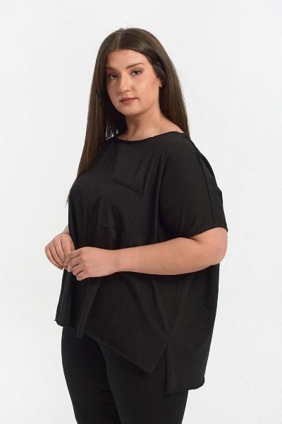 Μπλούζα plus size με ραφές