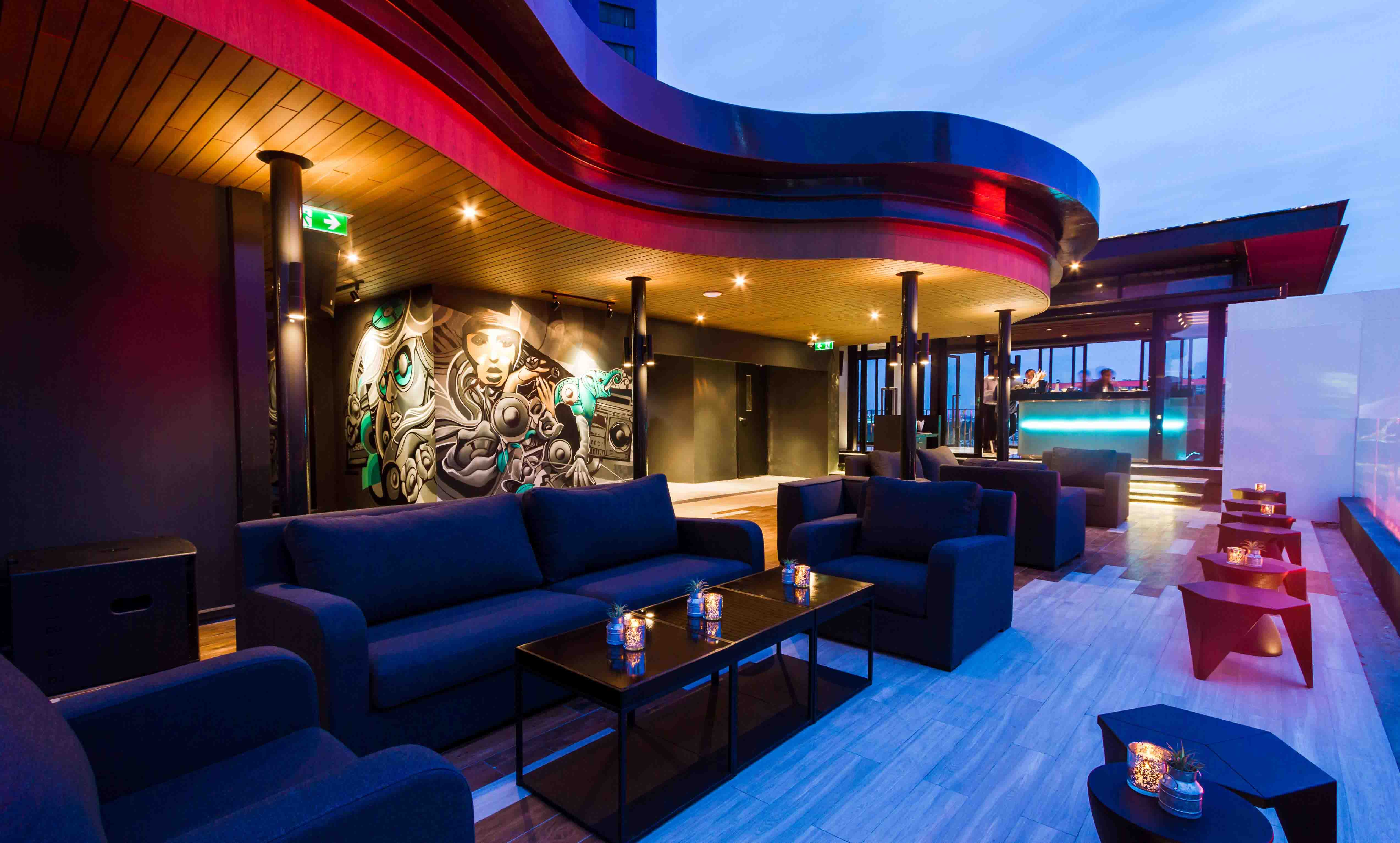 the living room with sky bar chocolate brown furniture ideas zook rooftop bangkok is now open for private events zazz hotels