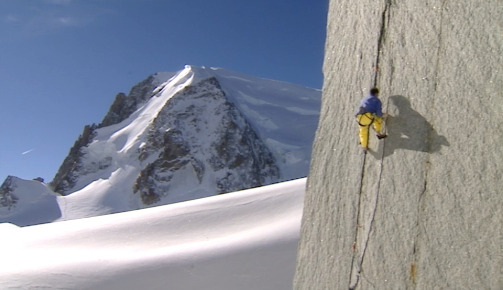 Alpinist Aiguille du Midi, Savoie