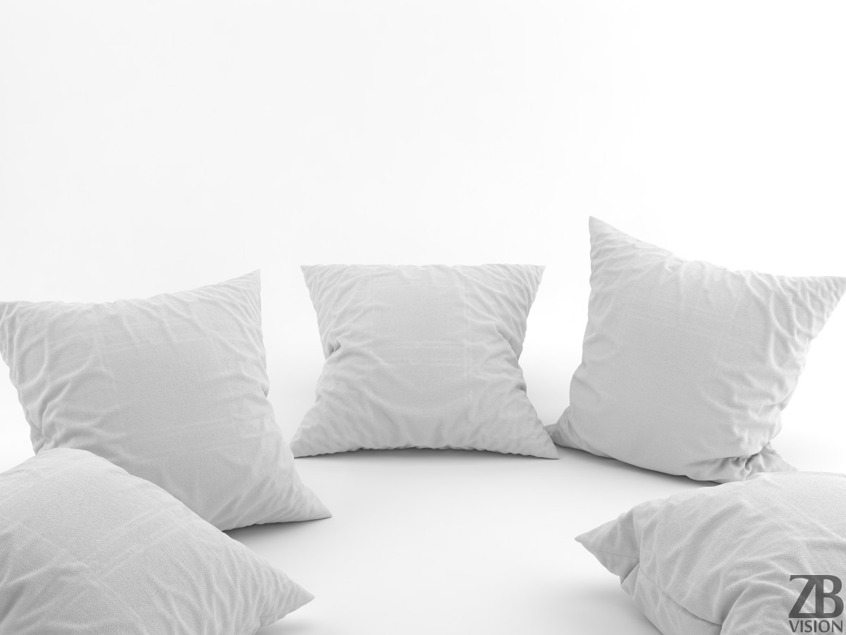 Pillows 3D model  ZBVision