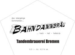Frühes Etikett: Bahndammbräu