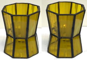03 - Teelicht oktogonal gelb