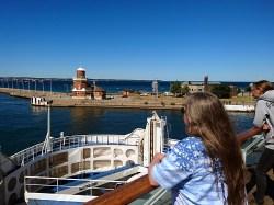 Erste Fähre von dreien: Überfahrt von Helsingborg nach Helsingør