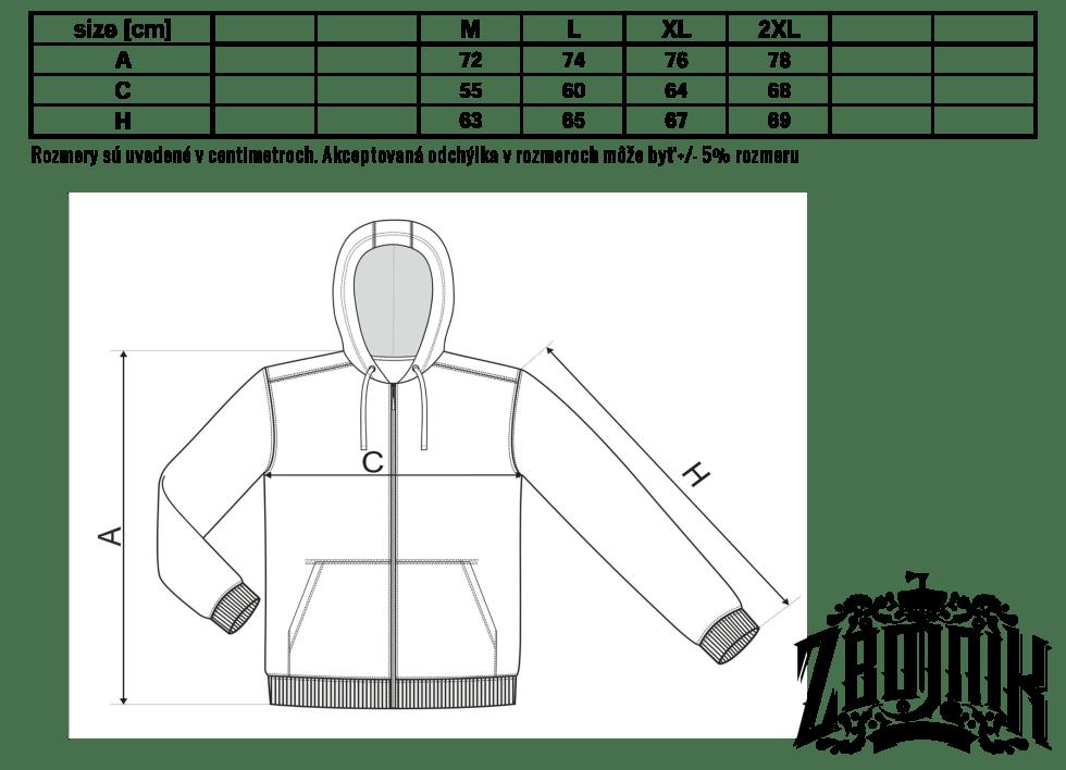 mikina trendy zipper